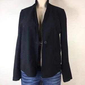 Eileen Fisher black blazer size petite medium